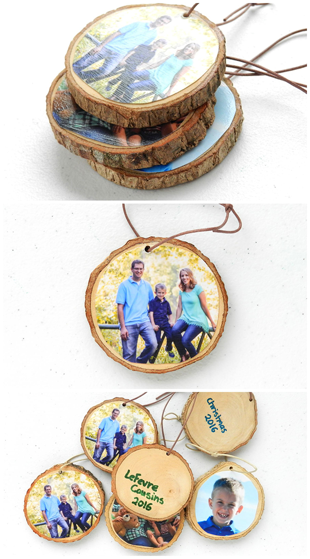 Rustic Christmas Woodslice Ornaments DIY