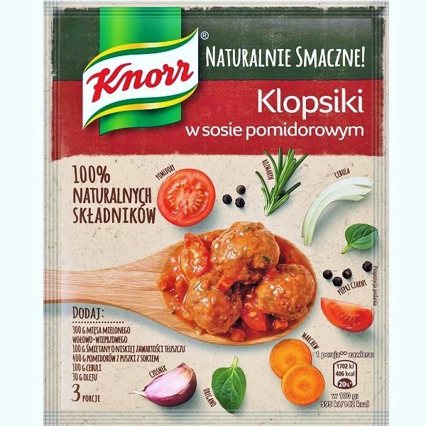 Klopsiki w sosie pomidorowym knorr