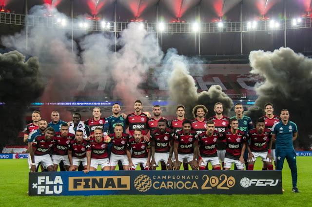 Flamengo vence o Fluminense e fatura o título carioca (Gazeta Esportiva)