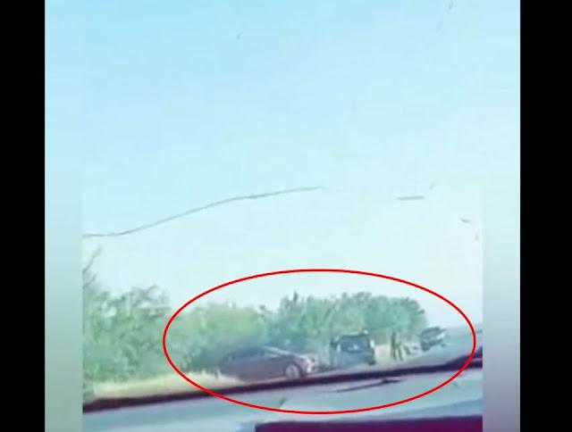 Video; Así montaron un reten los mugrosos del Cártel del Noreste en Tamaulipas con varias camionetas y hombres armados cazando a sus victimas en la carretera