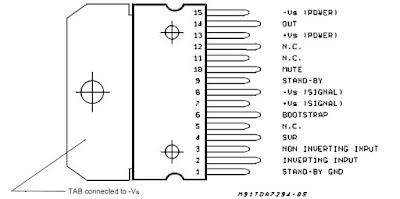 الدائرة المتكاملة TDA7294