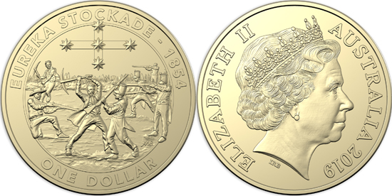 Australia 1 dollar 2019 - Mutiny and Rebellion - The Eureka Stockade