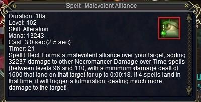 Necro Network: New Necromancer Spell: Malevolent Alliance