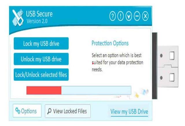 USB Secure 2.1.8 - Bảo vệ dữ liệu USB bằng mật khẩu