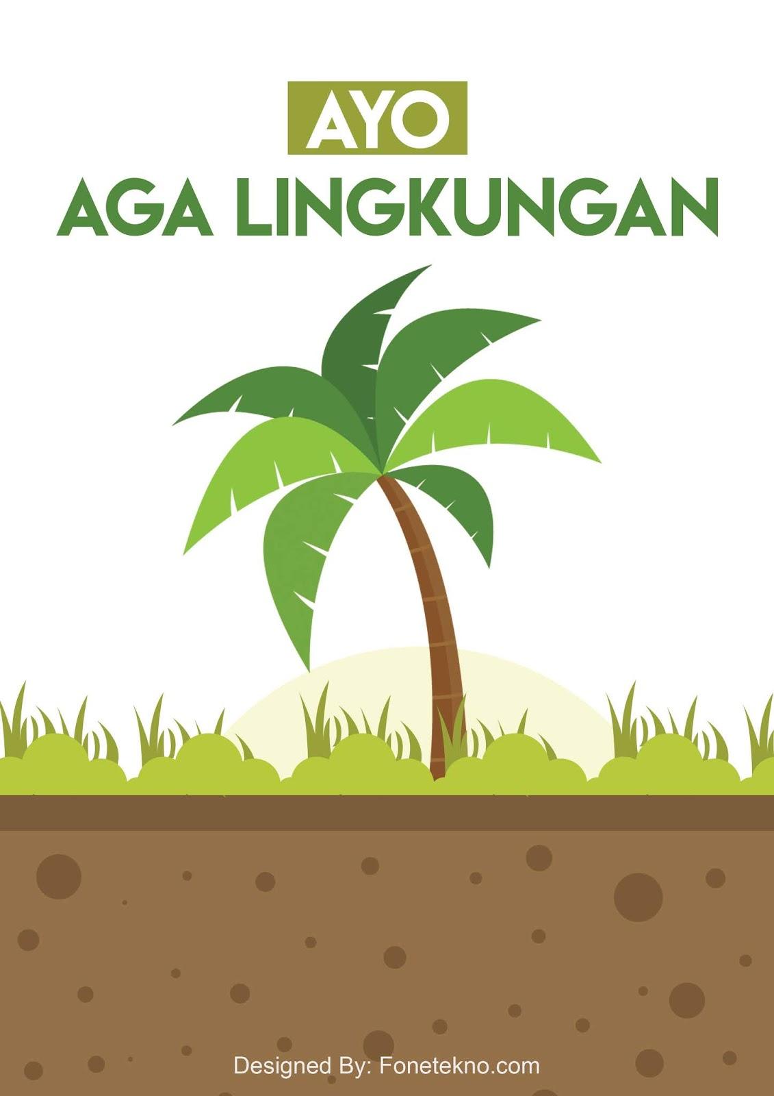 Download Gratis Contoh Desain Poster Tentang Lingkungan Psd
