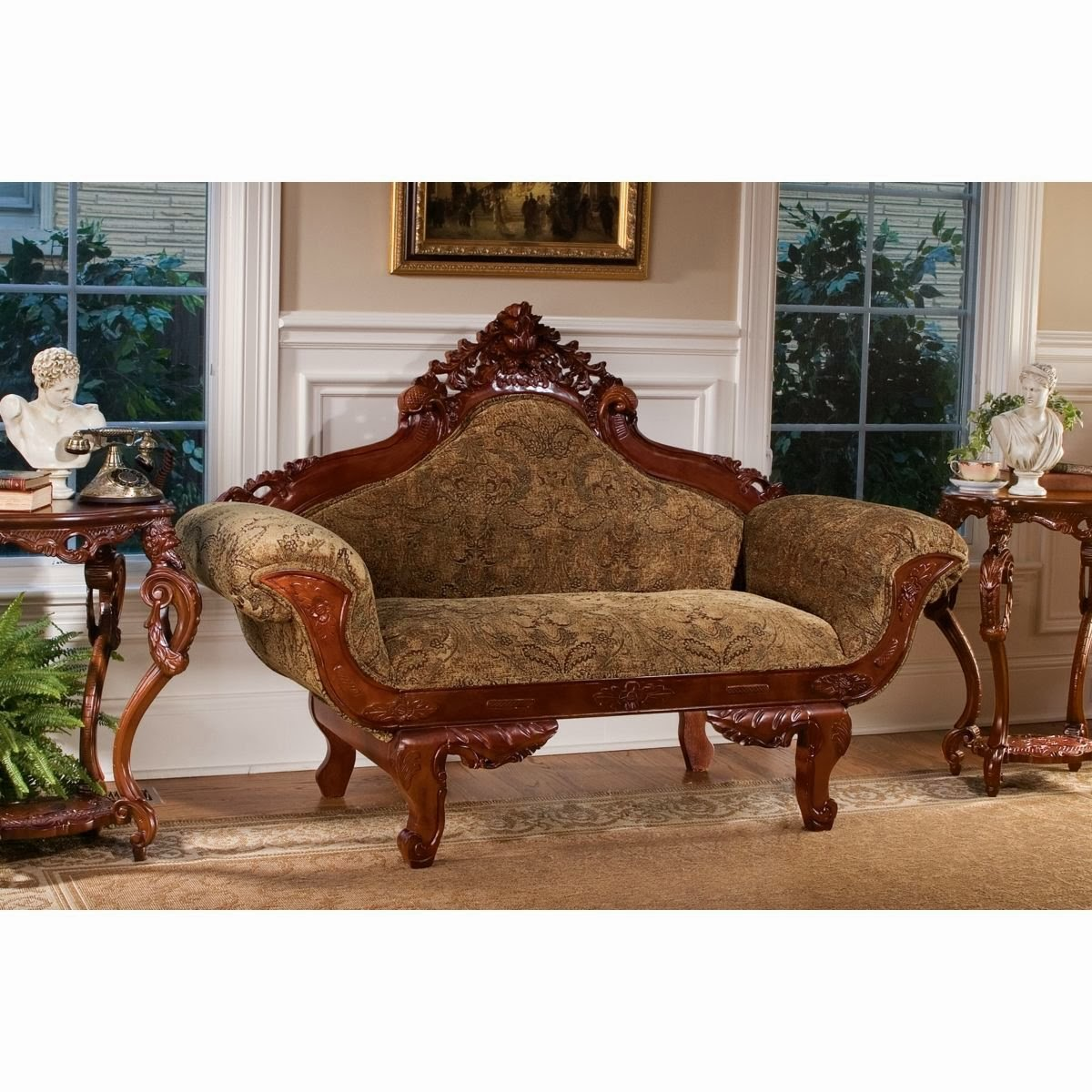 Victorian Couch: Antique Victorian Sofa Set: Antique Victorian Sofa