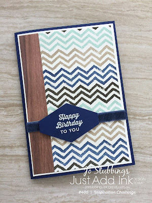 Jo's Stamping Spot - Just Add Ink Challenge #405 masculine card using Work of Art by Stampin' Up!