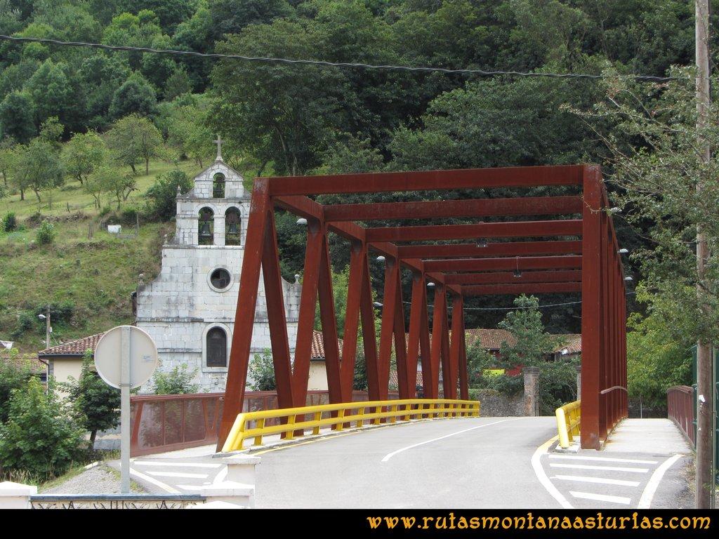Ruta Cascadas Guanga, Castiello, el Oso: Puente sobre el río Trubia