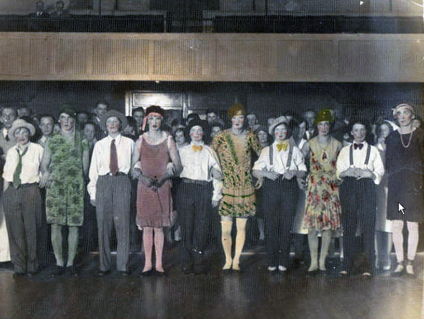Crossdressed dance marathon, circa 1935