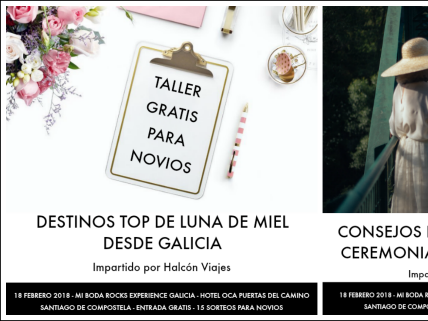 Reserva Talleres Mi Boda Rocks Experience Galicia