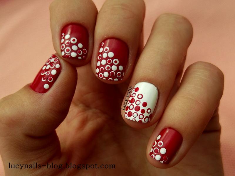 kropki wzory na paznokciach