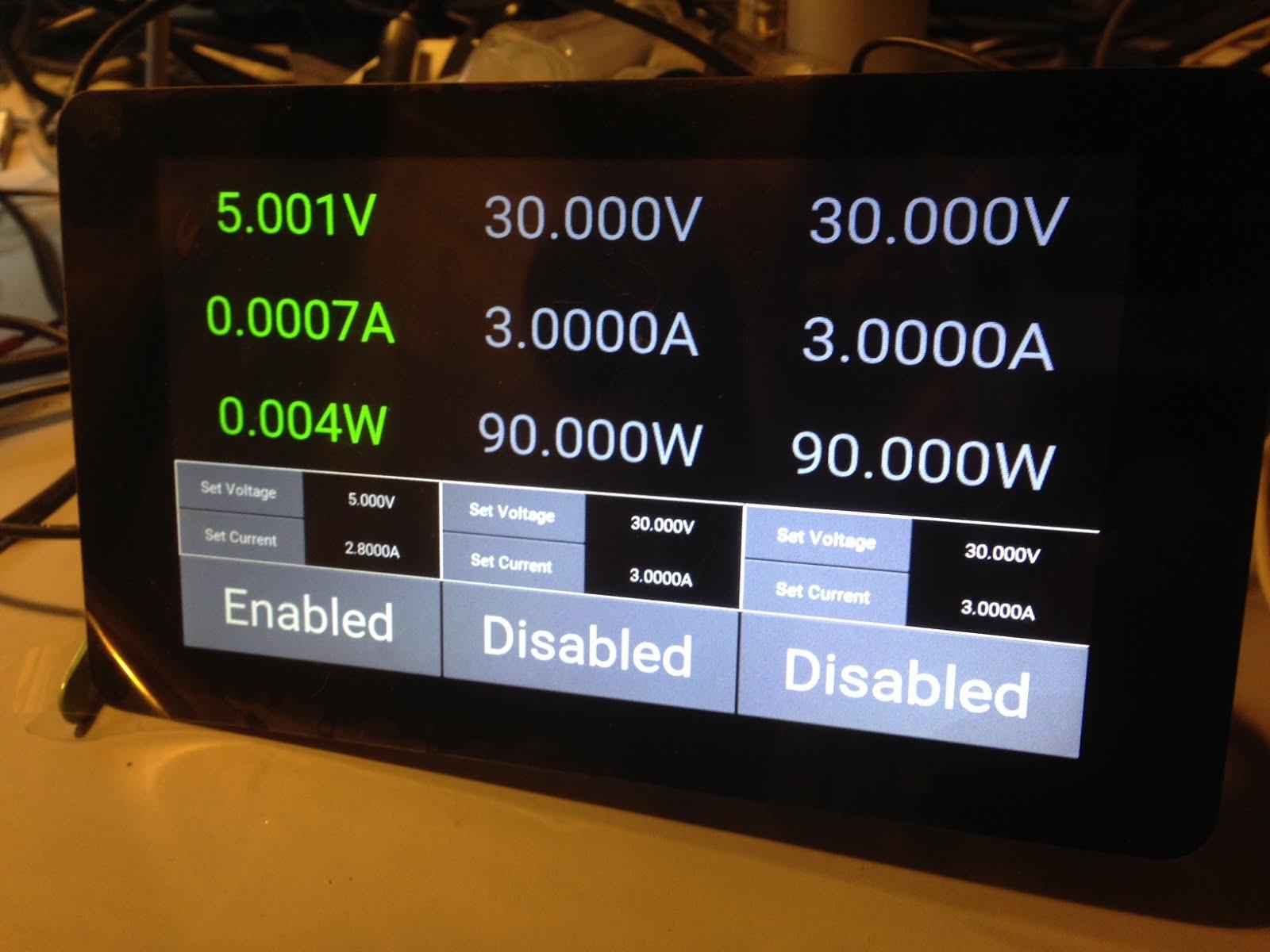 Musings of a WAHZ: Lab Power Supply - Raspbery Pi Control