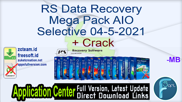 RS Data Recovery Mega Pack AIO Selective 04-5-2021 + Crack_ ZcTeam.id