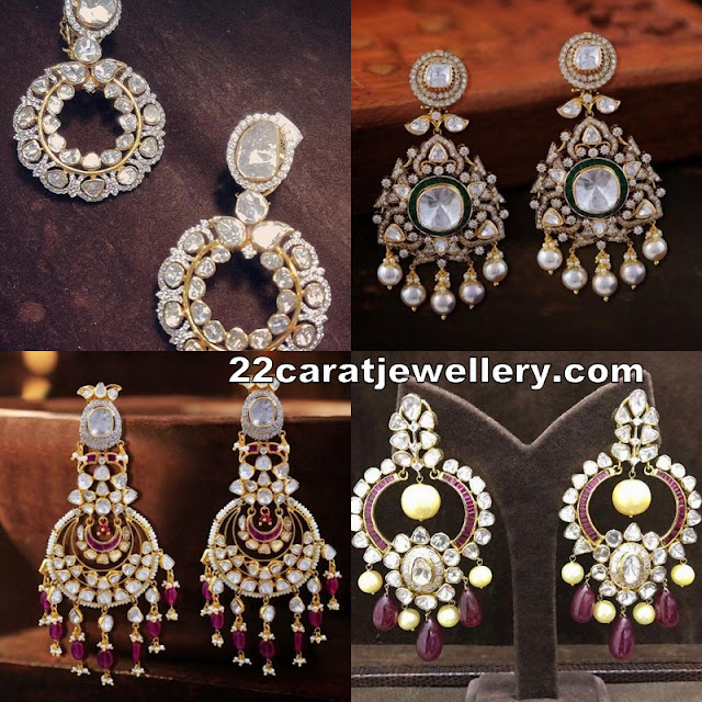 Unique and Grand Flat Diamond Chandbalis