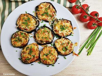 Berenjenas con tomate y queso al horno