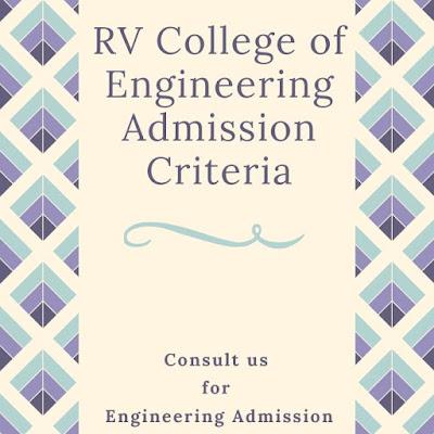 RV College Of Engineering Bangalore Admission Criteria