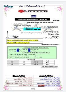 مذكرة قواعد وتدريبات اللغة الإنجليزية للصف الثاني الثانوي الترم الثاني 2020 لمستر محمد فوزي