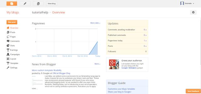 Create Free Blog on Google Blogspot