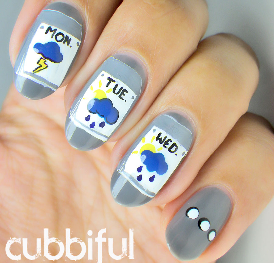 Weather Nail Art