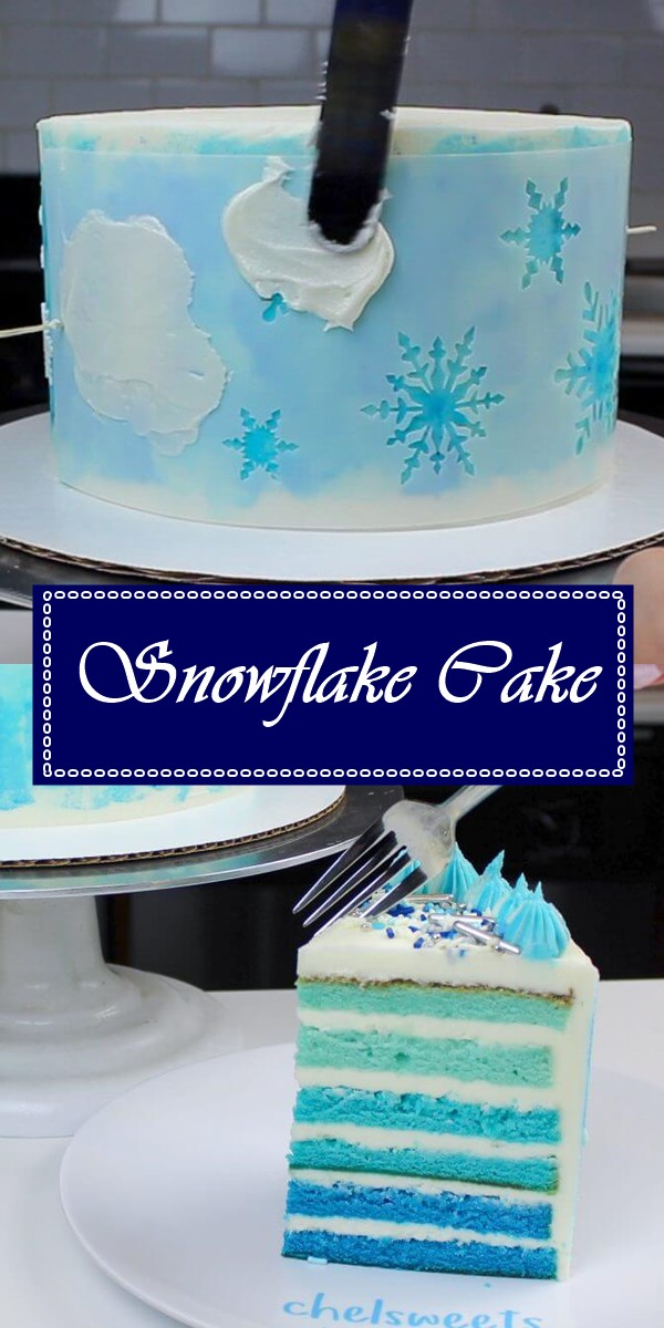 Snowflake Cake Recipe #cakerecipes