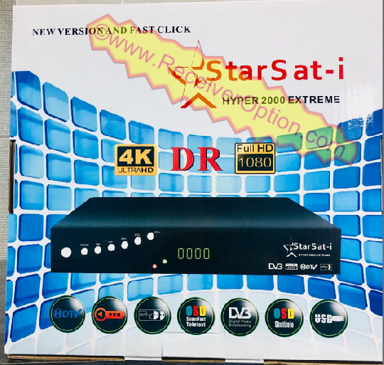 STARSAT-i HYPER 2000 EXTREME HD RECEIVER BISS KEY OPTION