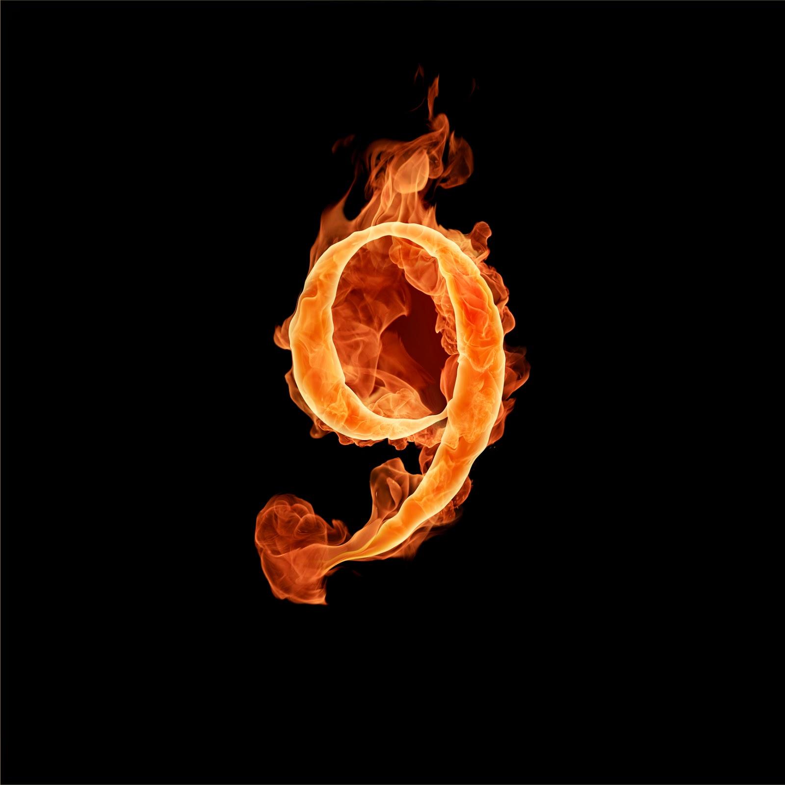 Free Burning Fire Letter Alphabet - Naviwall