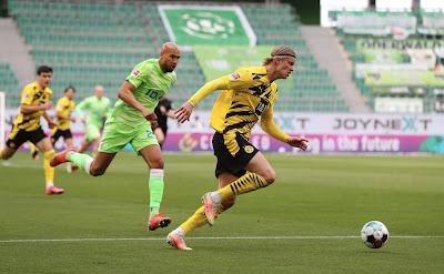 ملخص واهداف مباراة دورتموند وفولفسبورج (2-0) الدوري الألماني