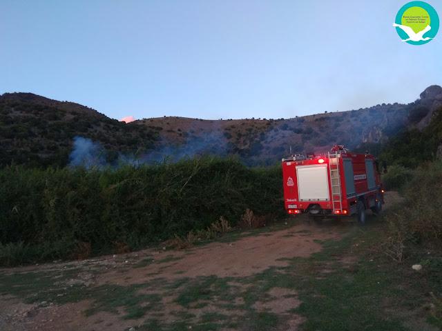 Φωτιά στην προστατευόμενη περιοχή του Δέλτα Καλαμά