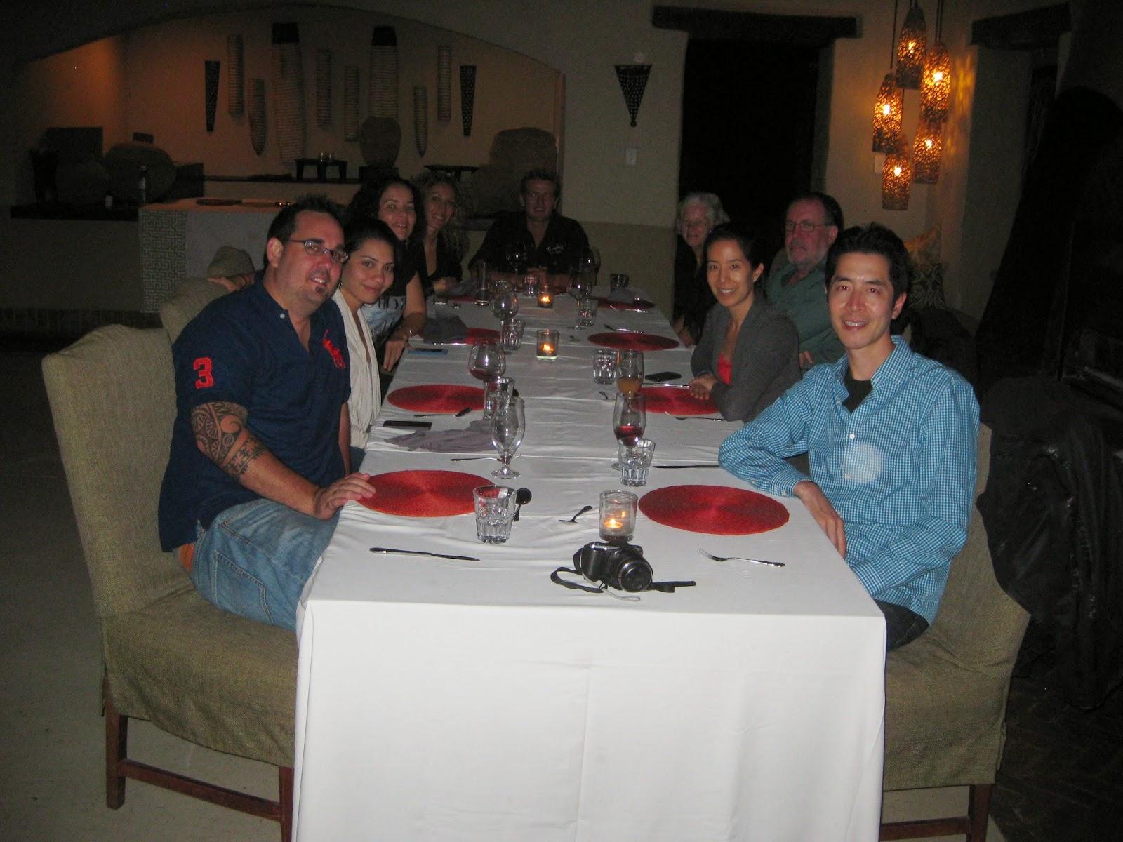 Sabi Sands - Dinner on our last night