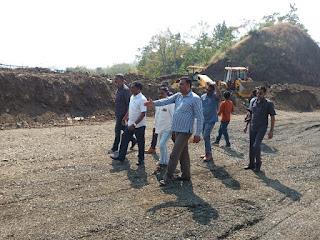 गणेश घाट में पहुंचे विधायक मेडा कार्य में तेजी लाने के लिए अधिकारियों को दिए निर्देश
