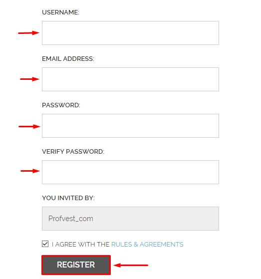 Регистрационная форма CryptoEra