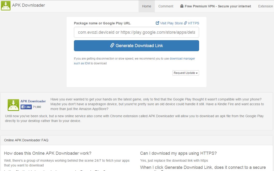 google playから「apk downloader」を使ってアプリファイル(apk)を直接