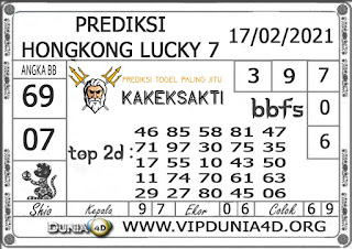 Prediksi Togel HONGKONG LUCKY 7 DUNIA4D 17 FEBRUARI 2021