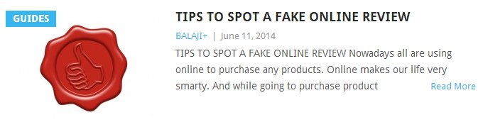TIPS TO SPOT FAKE REVIEWS ONLINE