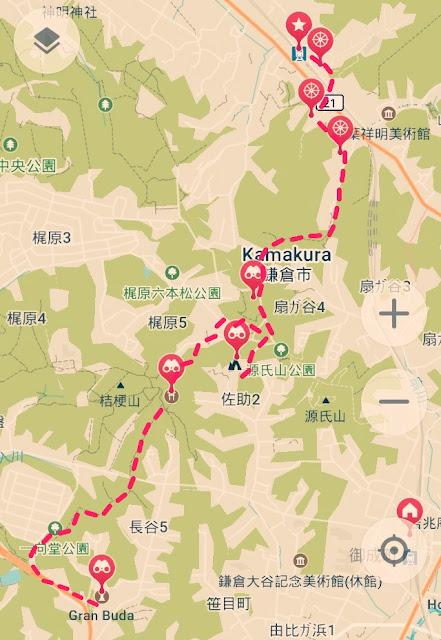 sendero daibutsu kamakura mapa