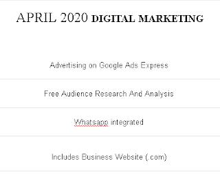 DIGITAL MARKETING - APRIL 2020