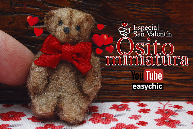 Osito de San valentin en miniatura manualidades