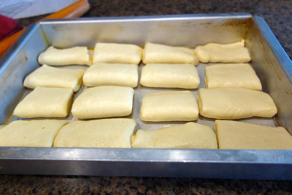 Parker House Rolls dough before baking