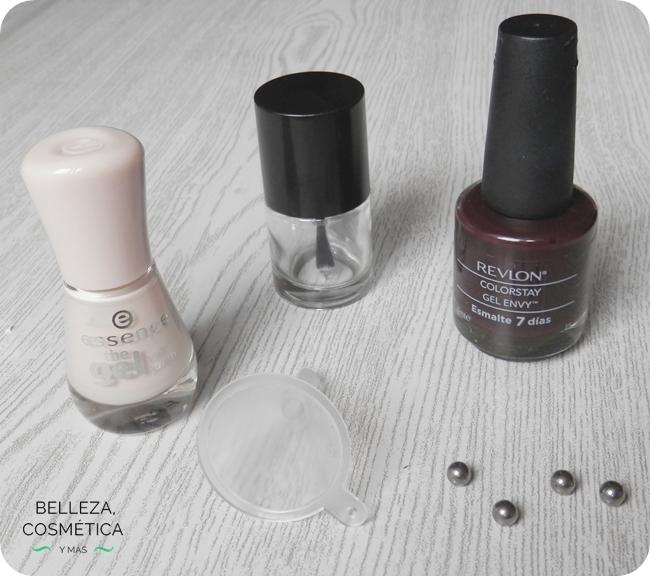 Mezclar esmalte uñas claro oscuro