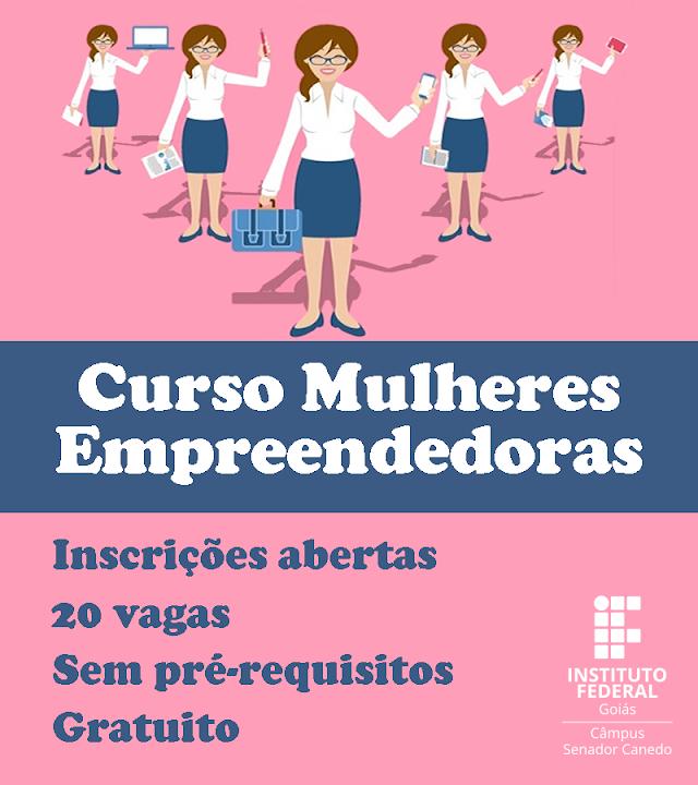 Senador Canedo: IFG oferece curso de empreendedorismo voltado às mulheres