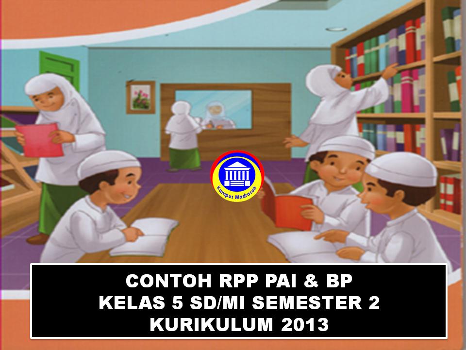 Contoh RPP 1 Lembar Kelas 5 SD/MI