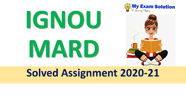 IGNOU MARD Solved Assignment 2020-21