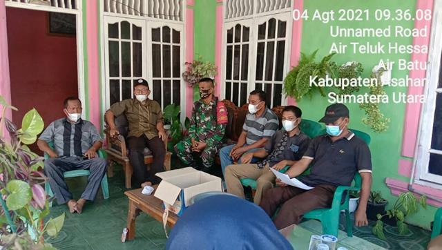 Sosialisasi Perpanjangan PPKM Kepada Warga Dilakukan Personel Jajaran Kodim 0208/Asahan