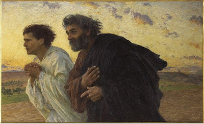 Peter and John run to the tomb