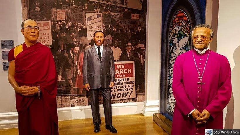 Dalai Lama, Martin Luther King - Madame Tussauds: Como visitar o museu de cera de Londres