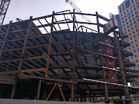 I-beam framing of a high rise commercial building in downtown Oakland