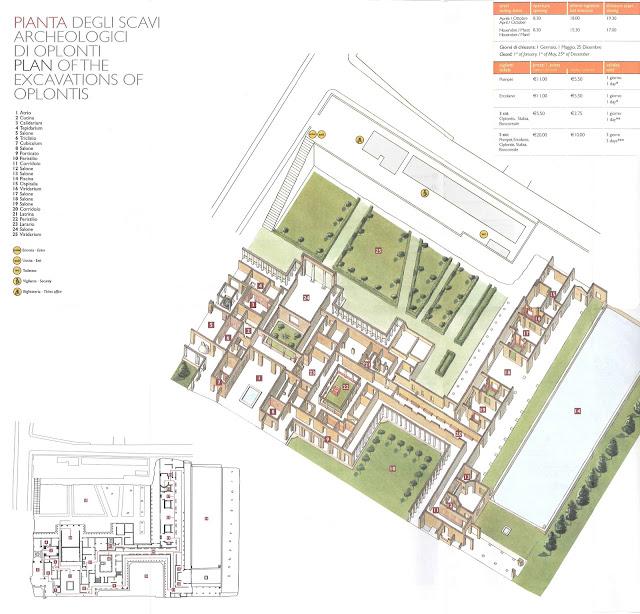 Mapa de Oplontis o la Villa de Popea