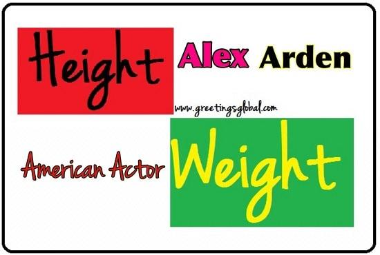 Alex Arden Height and weight
