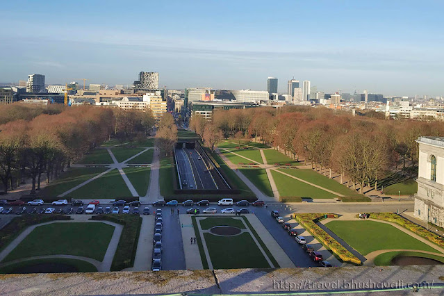 Climb the Cinquantenaire Arch Brussels
