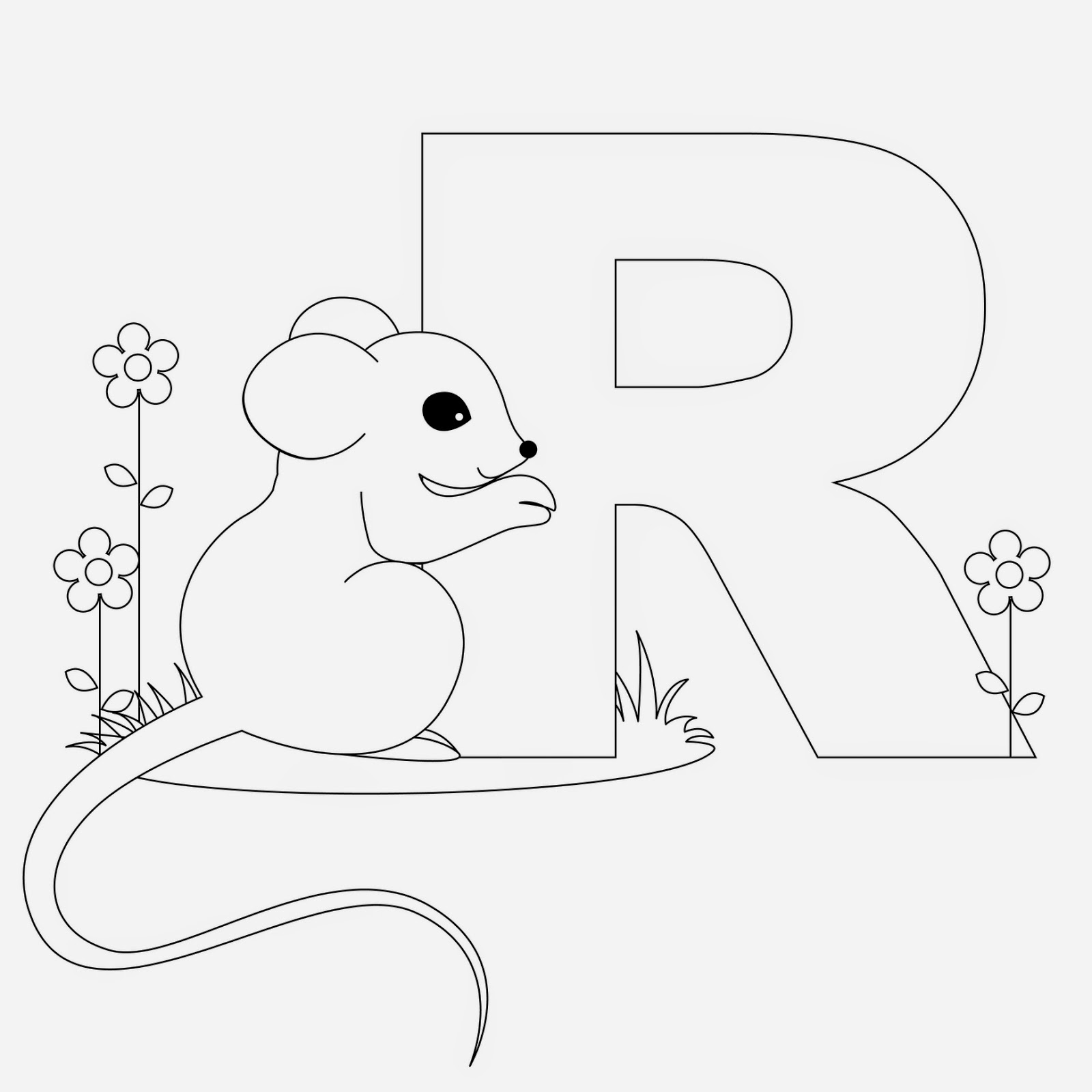 Kids Page R Is For Rat